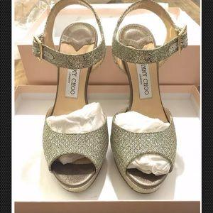 0bc40502790 Jimmy Choo Linda platform sandal heels in sz 38.